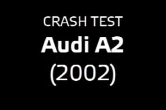 Тест лобового столкновения Ауди А2
