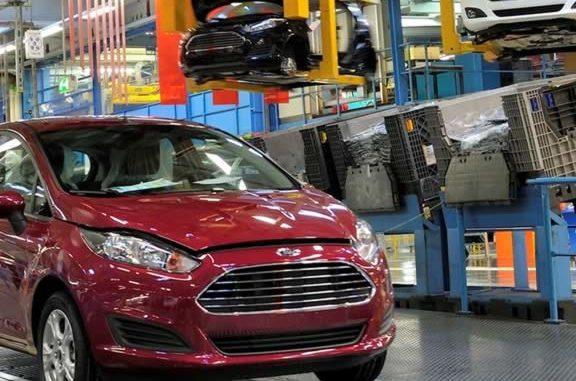 Производственный конвеер Форд в Германии