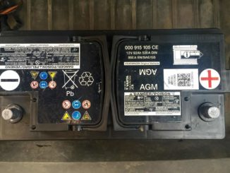 Оригинальный аккумулятор на Ауди Q5 92AH/520A